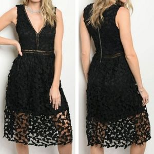 🎉HP🎉NWT Kalli Collection Lace Cocktail Dress